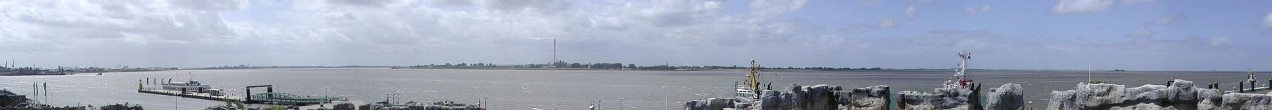 Panorama of Weser estuary